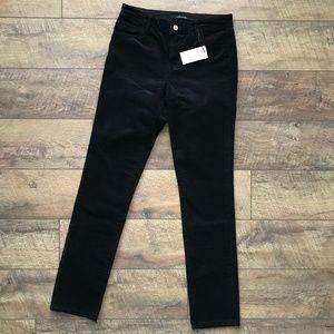 J Brand Black Corduroy Skinny Pants Jeans NWT
